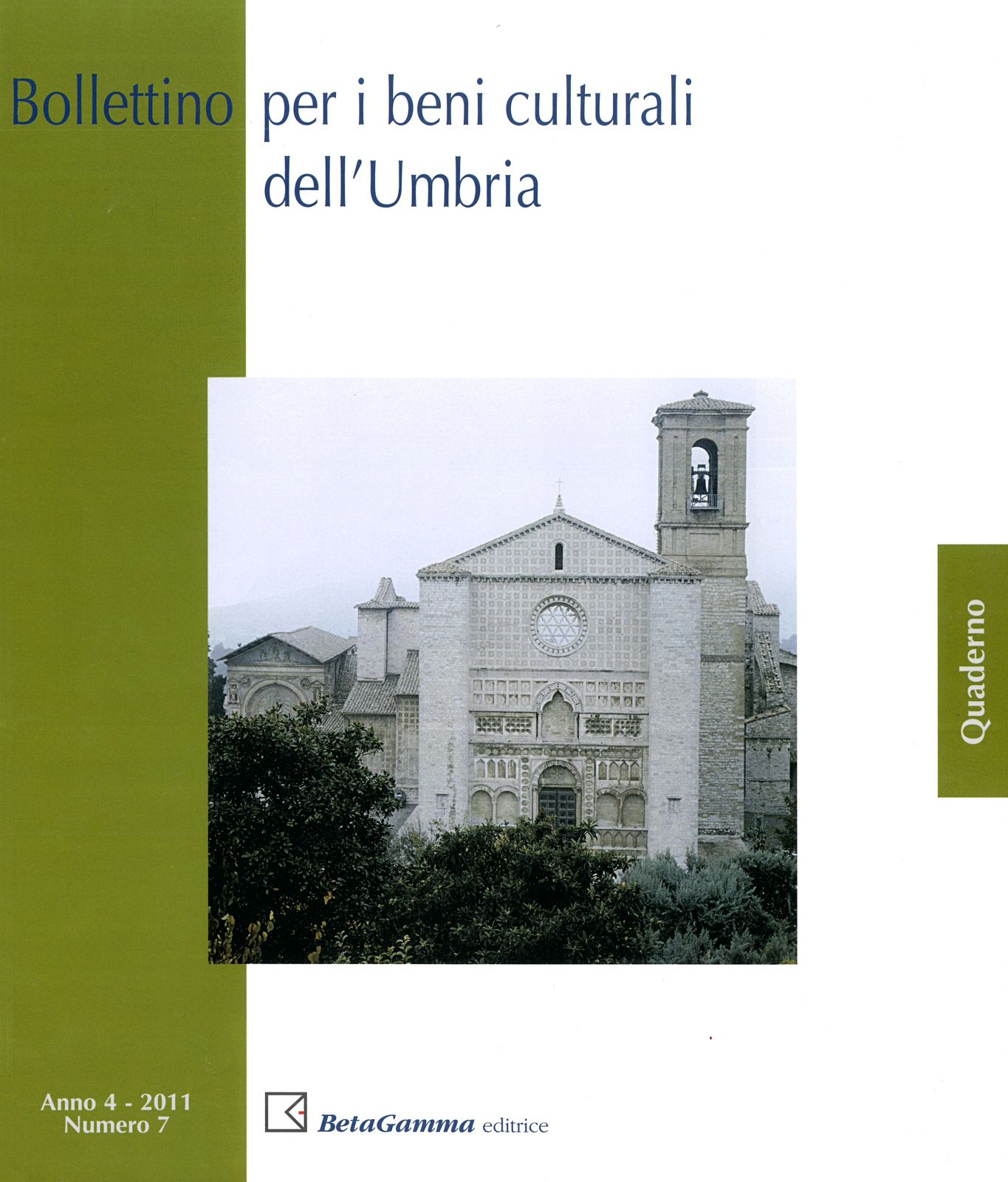 Bollettino per i Beni culturali dell'Umbria